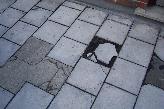 Safeline can help with the removal of asbestos such as these tiles